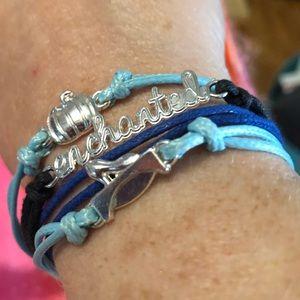Cinderella's Enchanted Blue Bracelet EUC